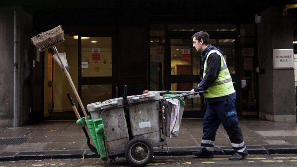 A street cleaner at work