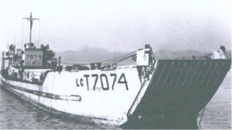 LCT 7074 serving in WW2