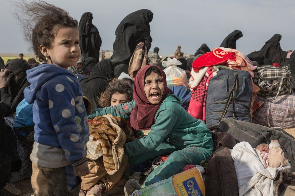 People fleeing the conflict in Syria