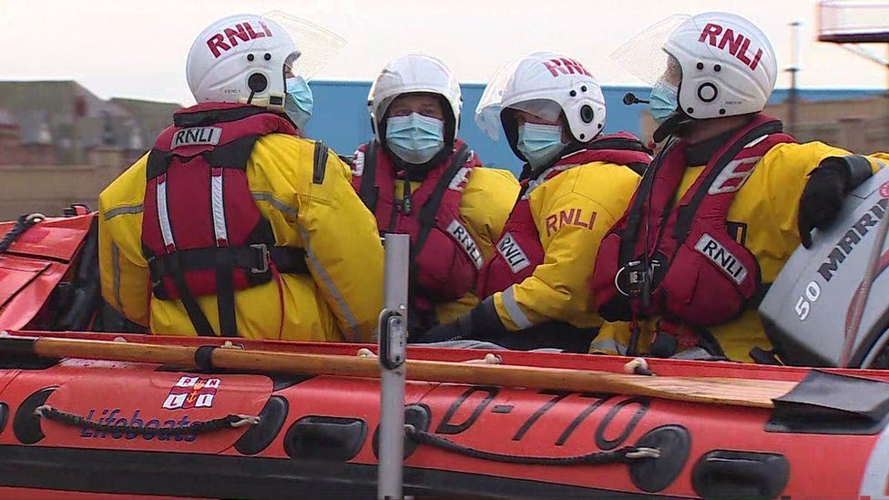 One of the seven RNLI lifeboat crews searching for the vessel