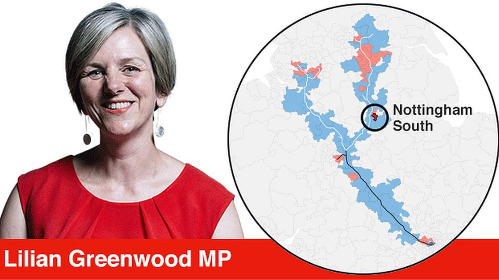 Lilian Greenwood and the location of her constituency