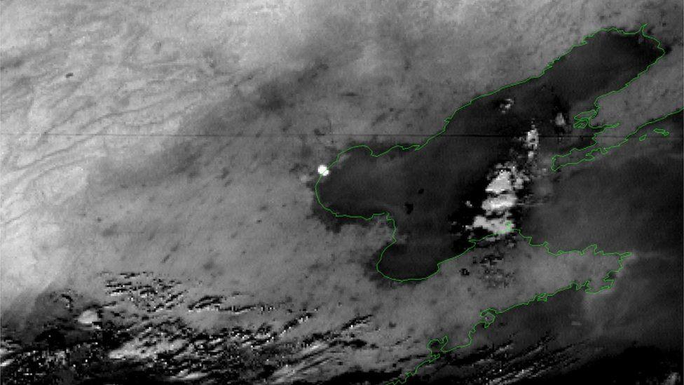 Japan Meteorological Agency satellite photo of explosion