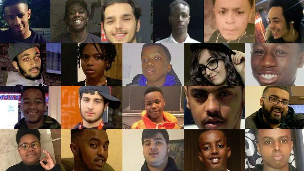 21 of the victims