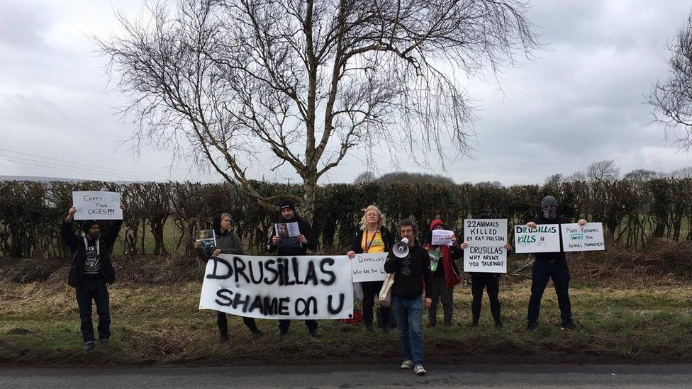 A protest was held by the Eastbourne Animal Rights Action group