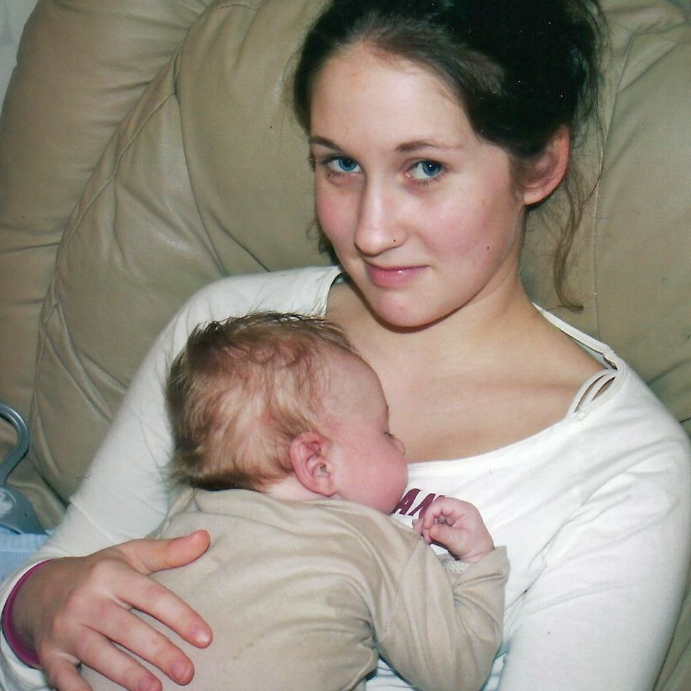 Lucie and her son Toby