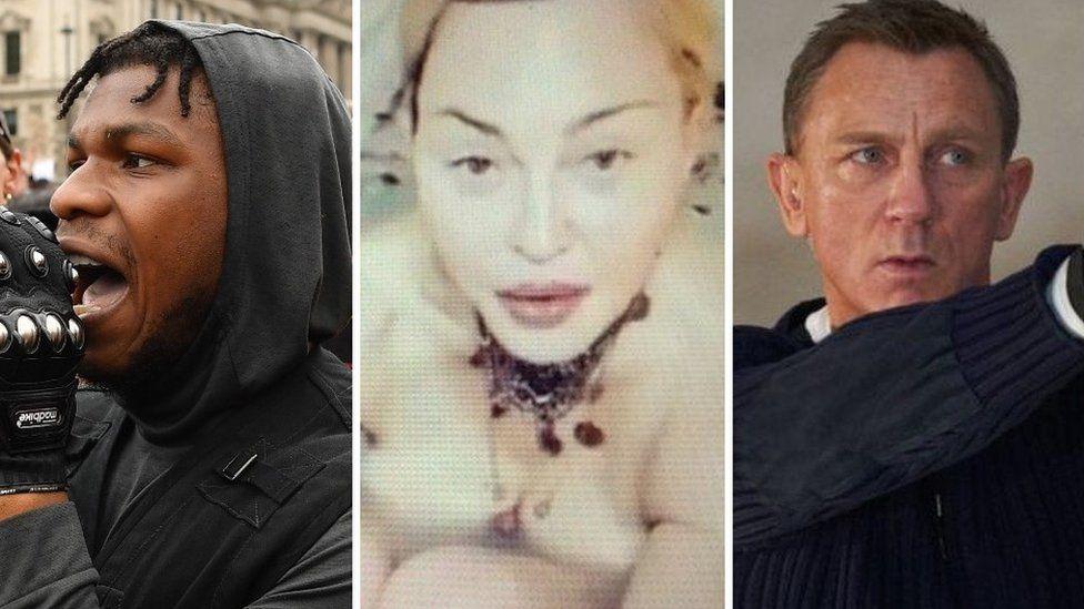 John Boyega, Madonna and Daniel Craig as 007