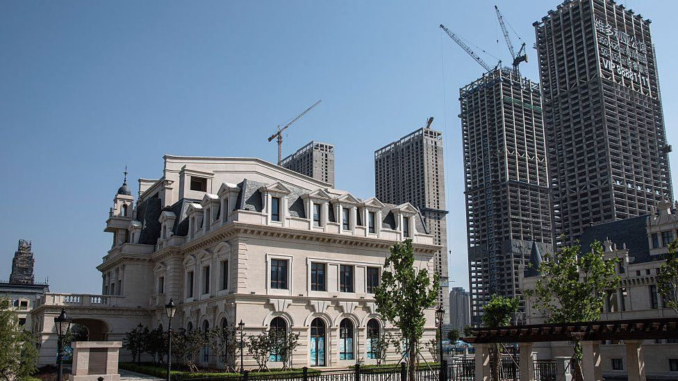 New European-style buildings in Dalian, China