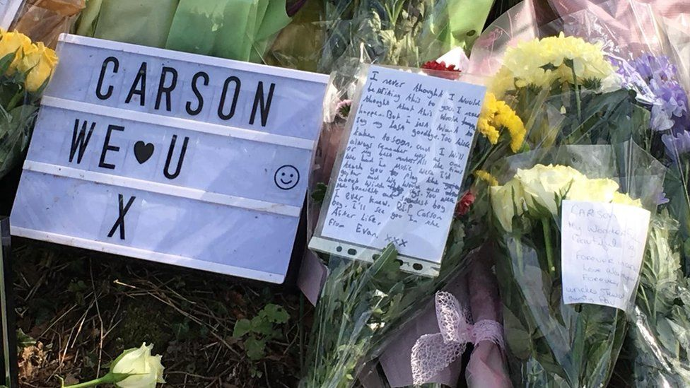 Tributes left at the park