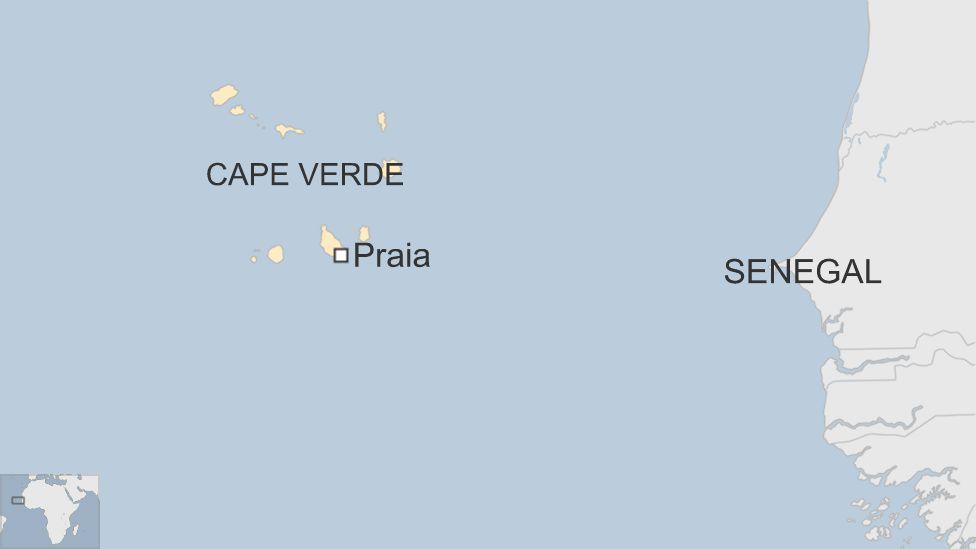 Map of Praia, Cape Verde