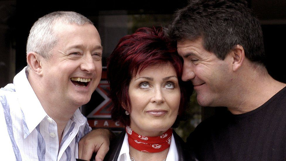 Louis Walsh, Sharon Osbourne and Simon Cowell during Ireland auditions for The X Factor in 2004