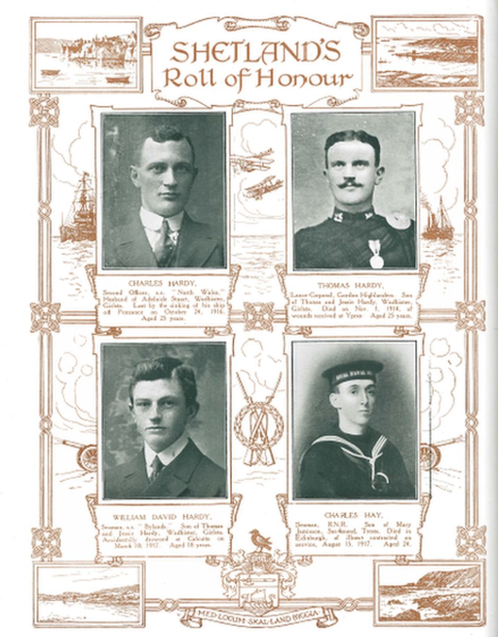 Image from Shetland's Roll of Honour
