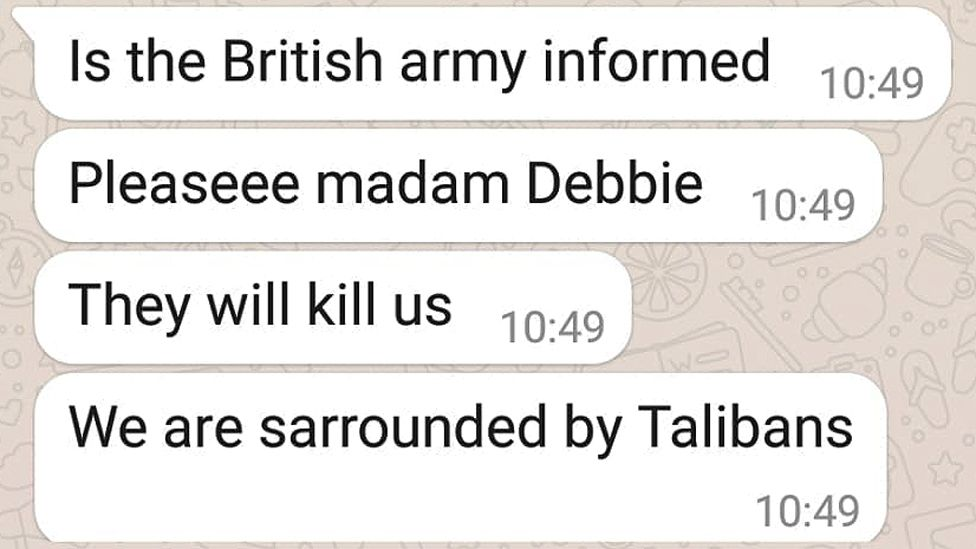 Messages from Shukria Barakzai to Debbie Abrahams MP