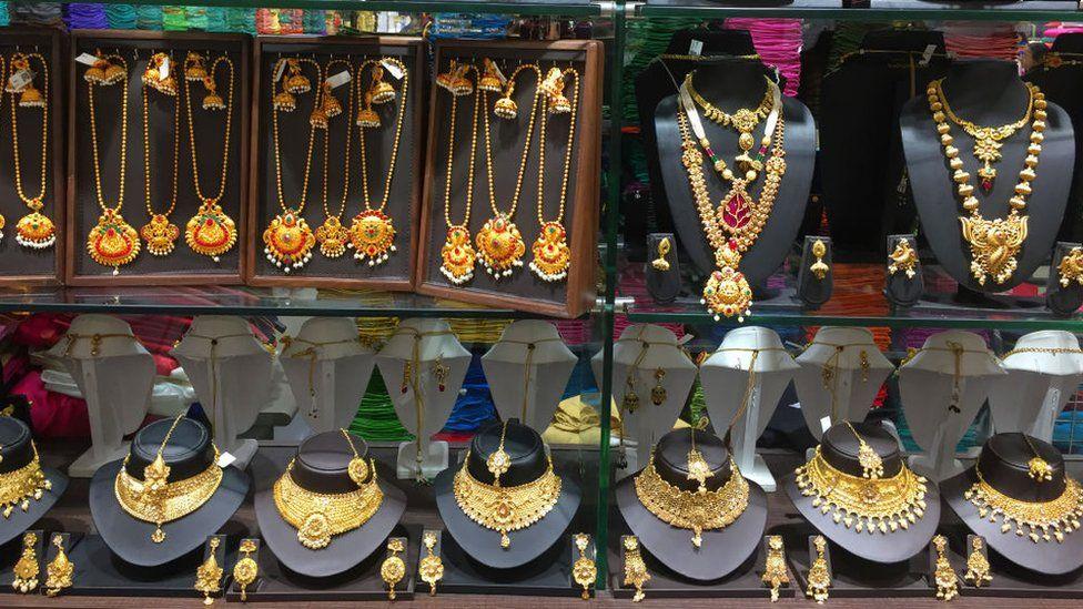 A jewellery shop in Thiruvananthapuram, Kerala, India, on February 03, 2020.