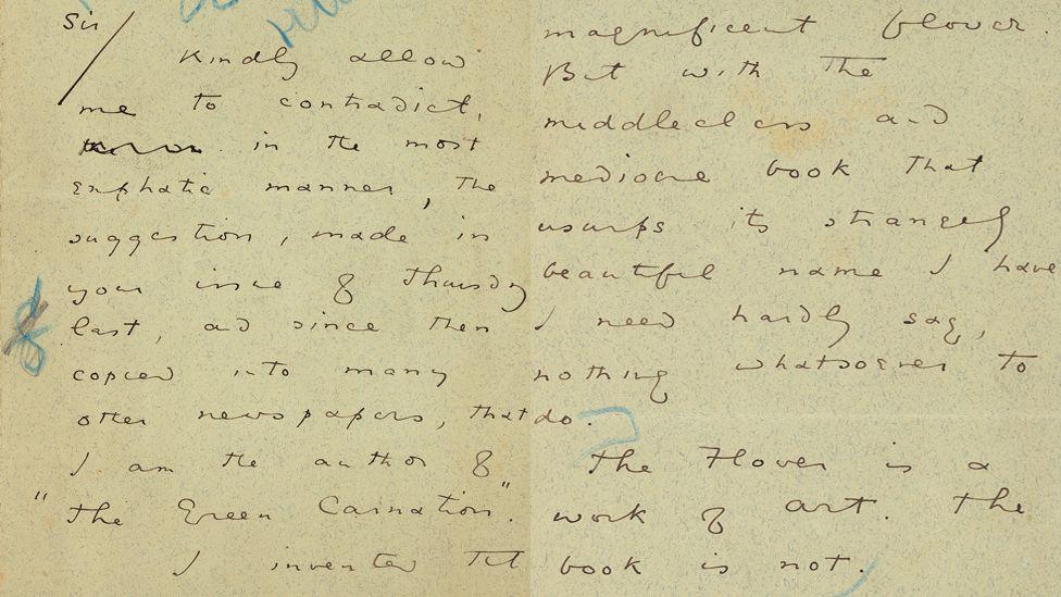 Letter by Oscar Wilde