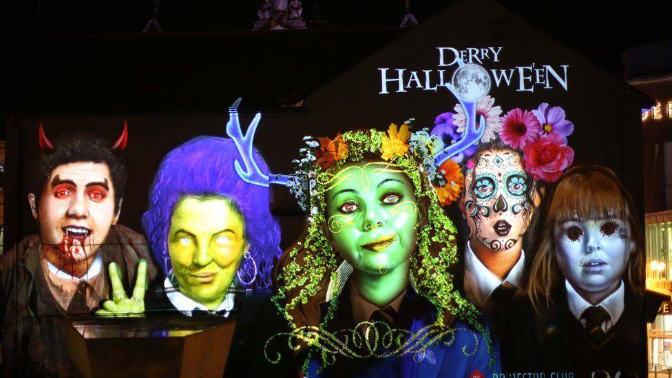 Derry Girls mural Halloween