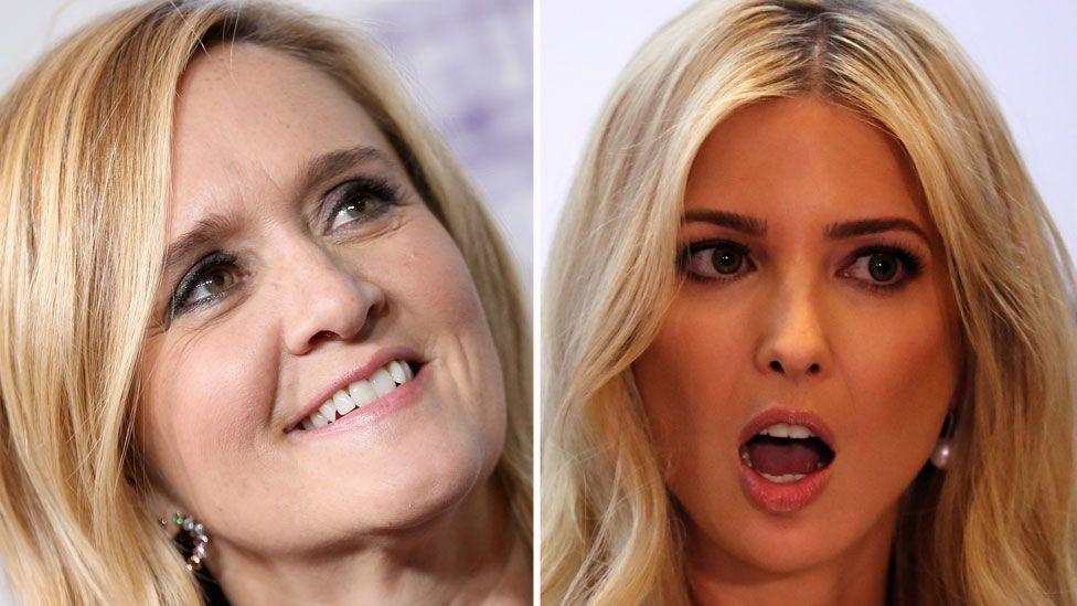 Composite image of Samantha Bee (left) and Ivanka Trump
