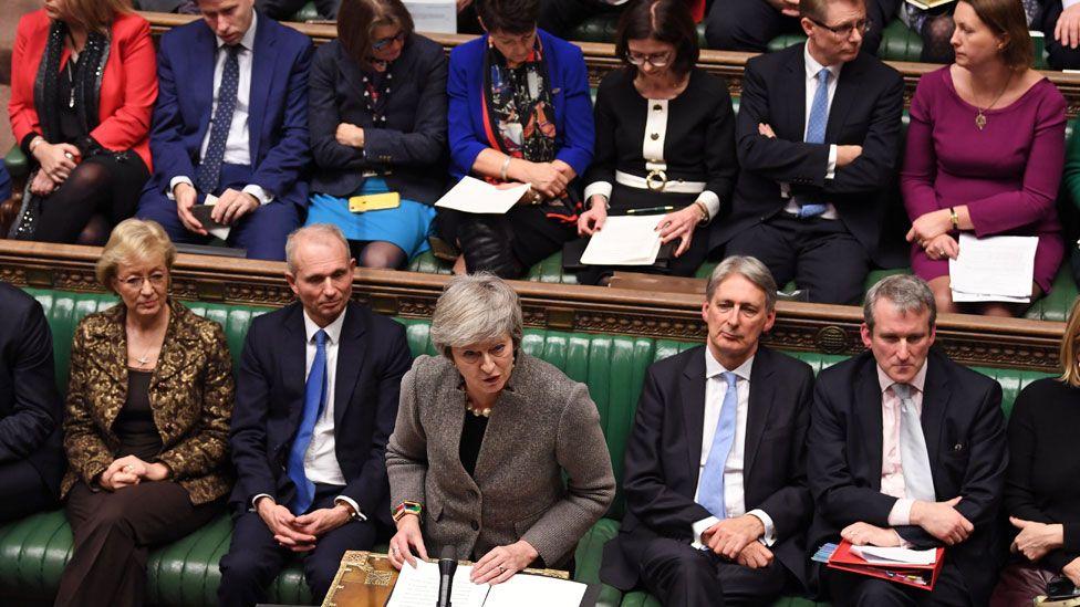 Theresa May on 17 December