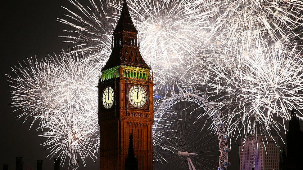 Fireworks in London in 2015
