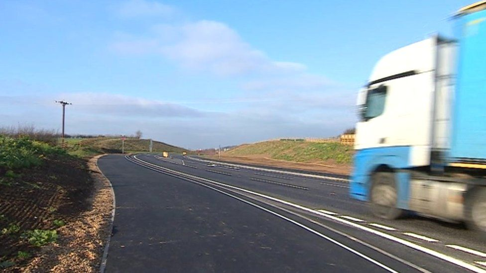Lorry on the Kegworth bypass