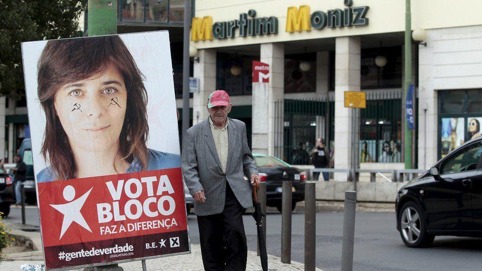 Poster of Left Bloc spokeswoman Catarina Martins (20 Oct)