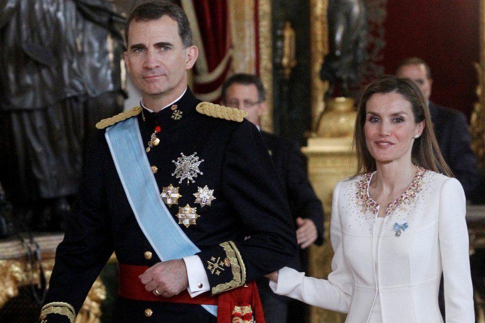 Spanish royal couple, 19 Jun 2014