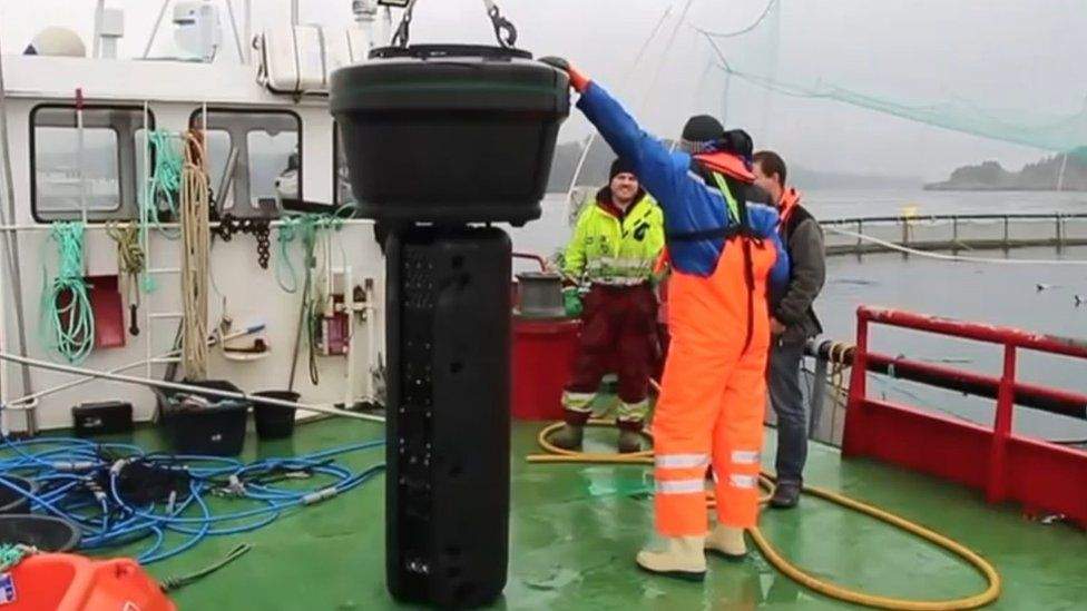 Laser unit on board the boat