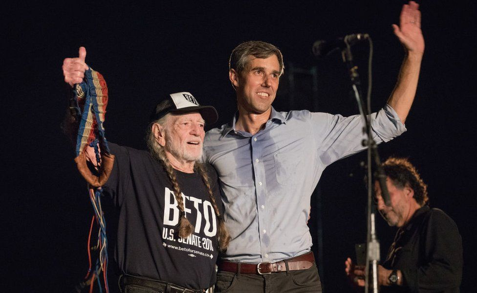 Mr O'Rourke held a campaign concert with famed country musician Willie Nelson