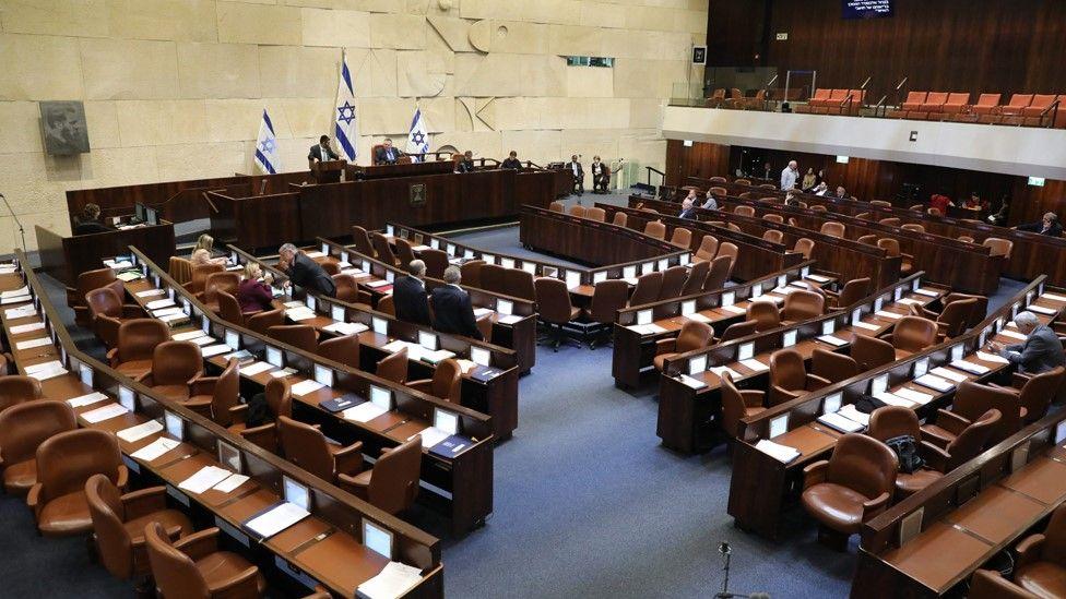 Israeli Knesset in Jerusalem on 11 December 2019