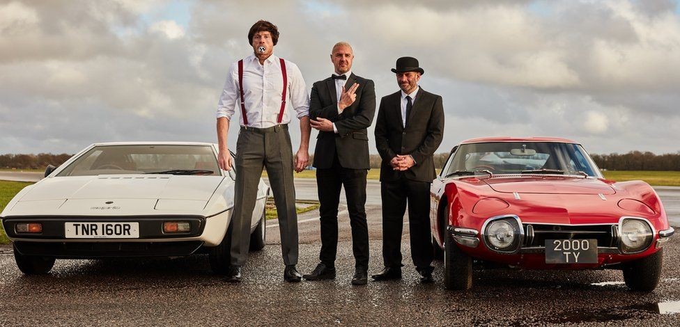 Andrew Flintoff, Paddy McGuinness and Chris Harris in Top Gear