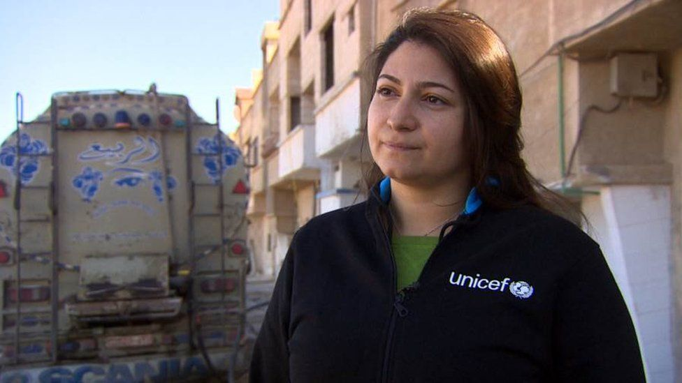 Unicef communication officer Razan Rashidi