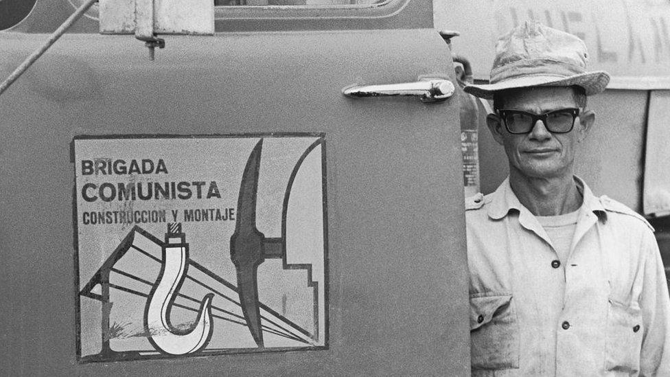 Member of the Communist Brigade, Cuba, undated