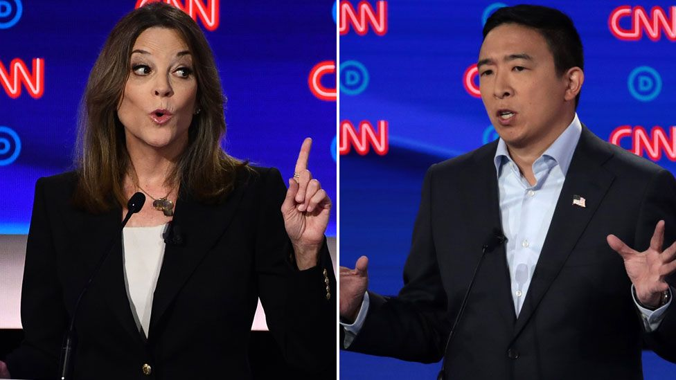 Marianne Williamson and Andrew Yang