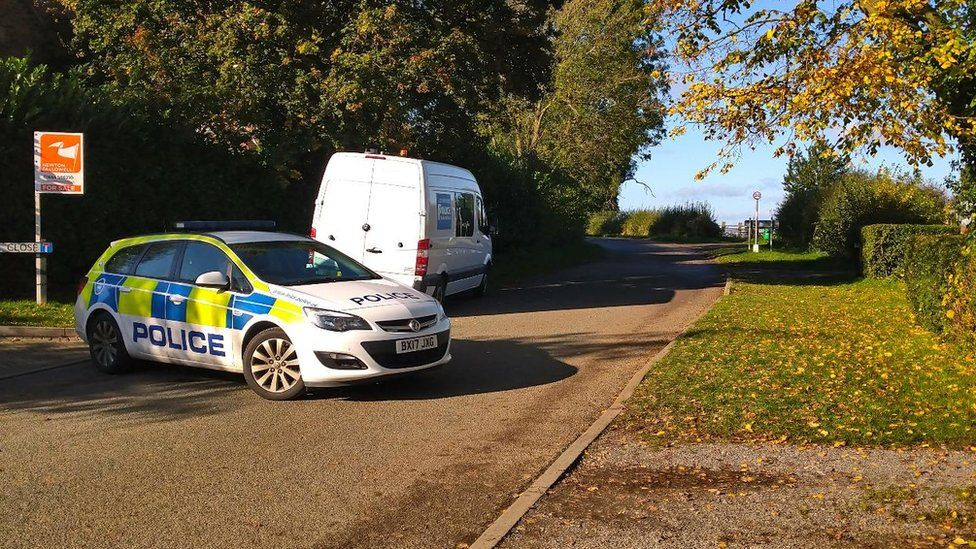 Police car in Whissendine
