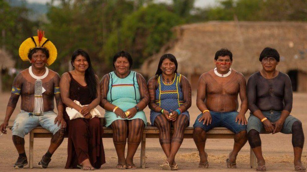 Kayapó and Panará during the meeting
