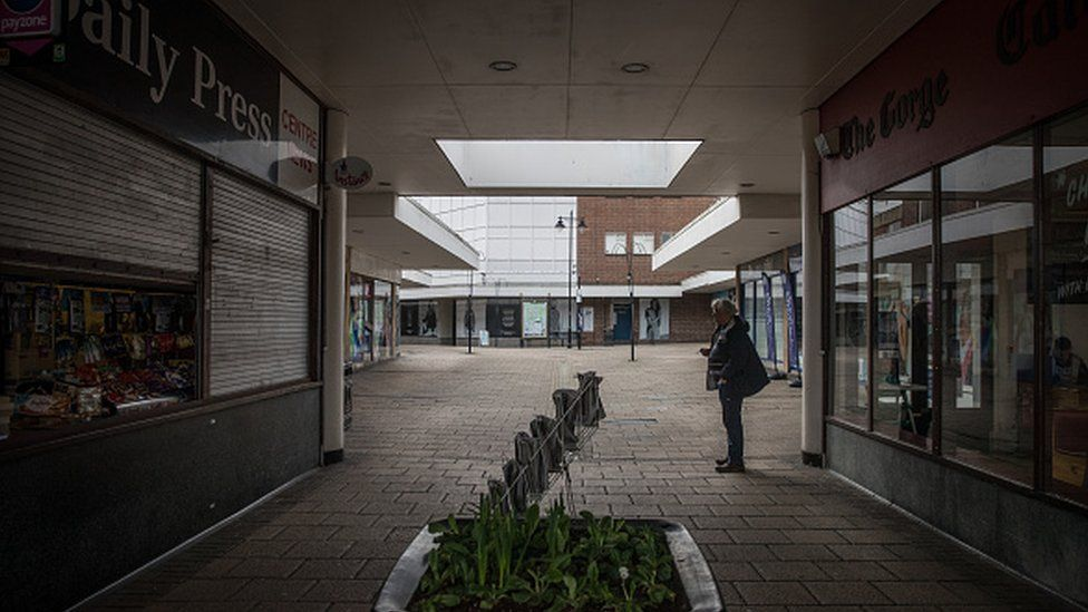 A shopping centre in Yeovil in 2017