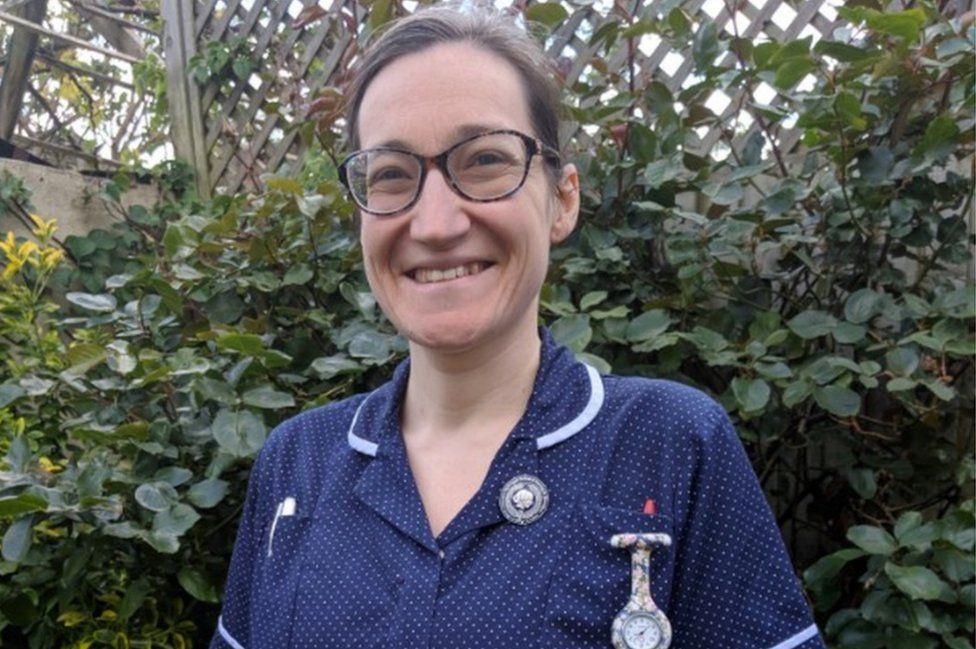 Hannah MacDonald in her nurses uniform, 2020