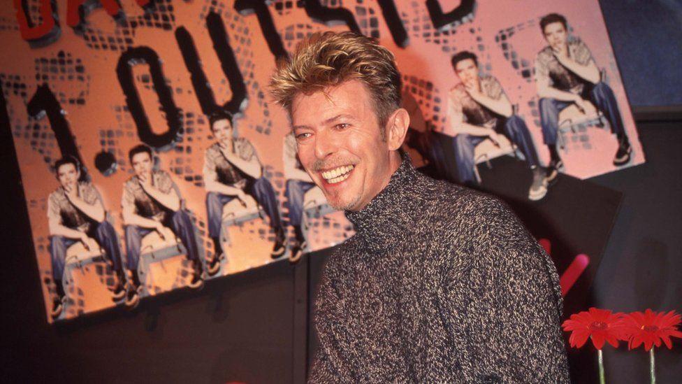 David Bowie launching an album at HMV