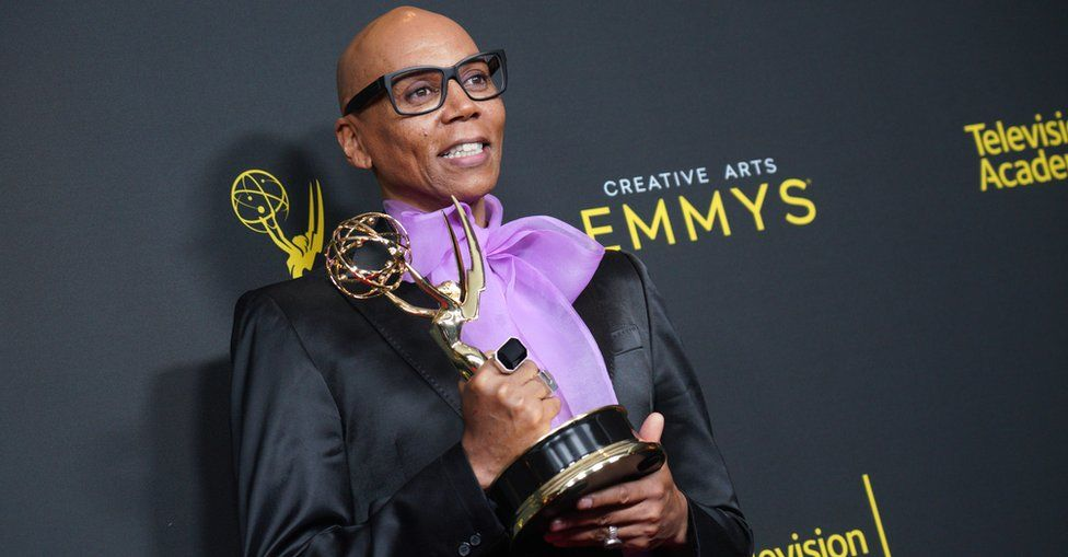 RuPaul at the Emmy Awards