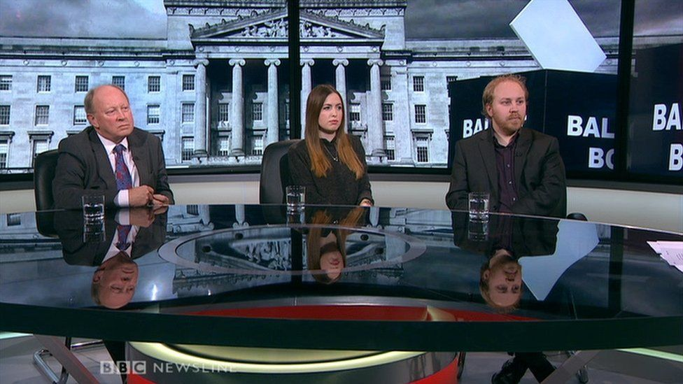 Jim Allister, Fiona Ferguson and Steven Agnew were interviewed on BBC One NI after the debate