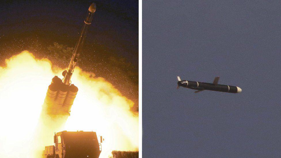 آکادمی علوم دفاع ملی آزمایش موشک های دوربرد را در کره شمالی انجام می دهد ، همانطور که در این عکس از عکس های بدون تاریخ ارائه شده توسط خبرگزاری مرکزی کره شمالی (KCNA) در 13 سپتامبر 2021 نشان داده شده است.
