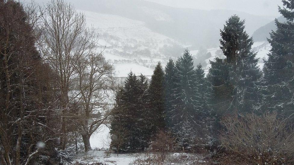 The Tanat valley at Llangynog in Powys