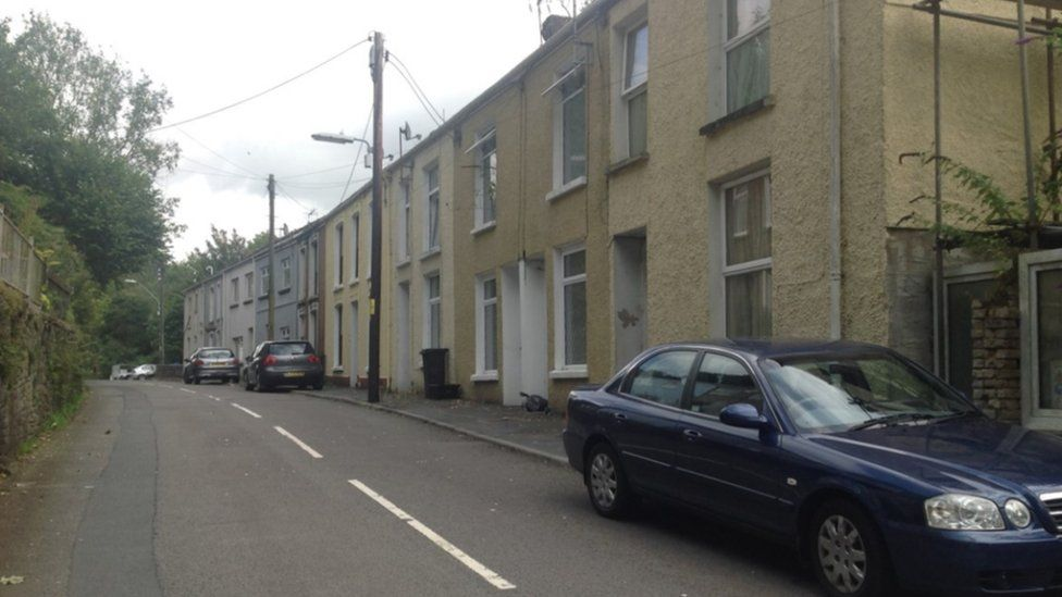 The affected properties on Cyfyng Road