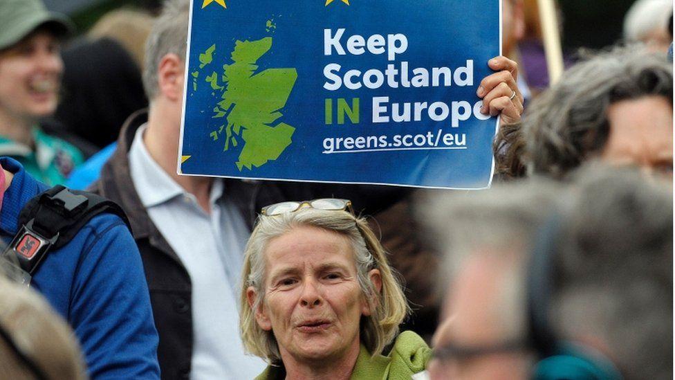 Scottish protester
