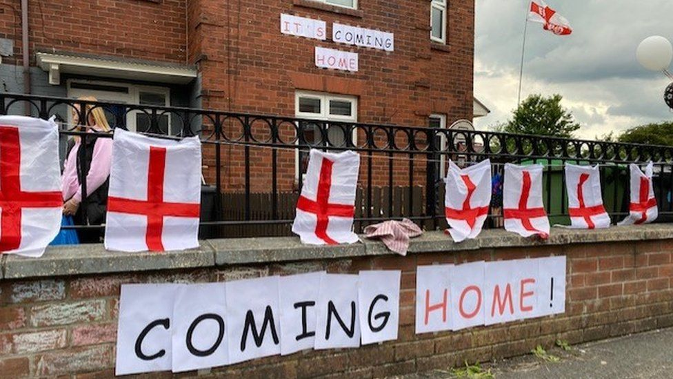 Flags in Oldham