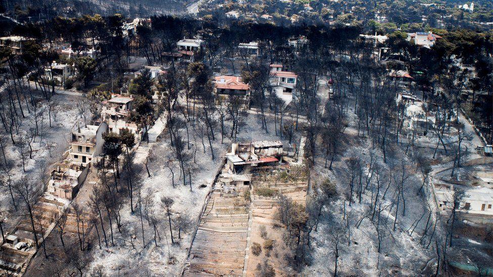 Devastation in Mati, Greece