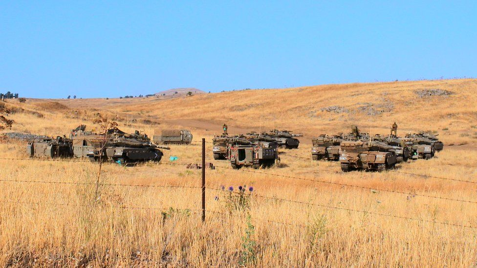Tanks in the Golan Heights
