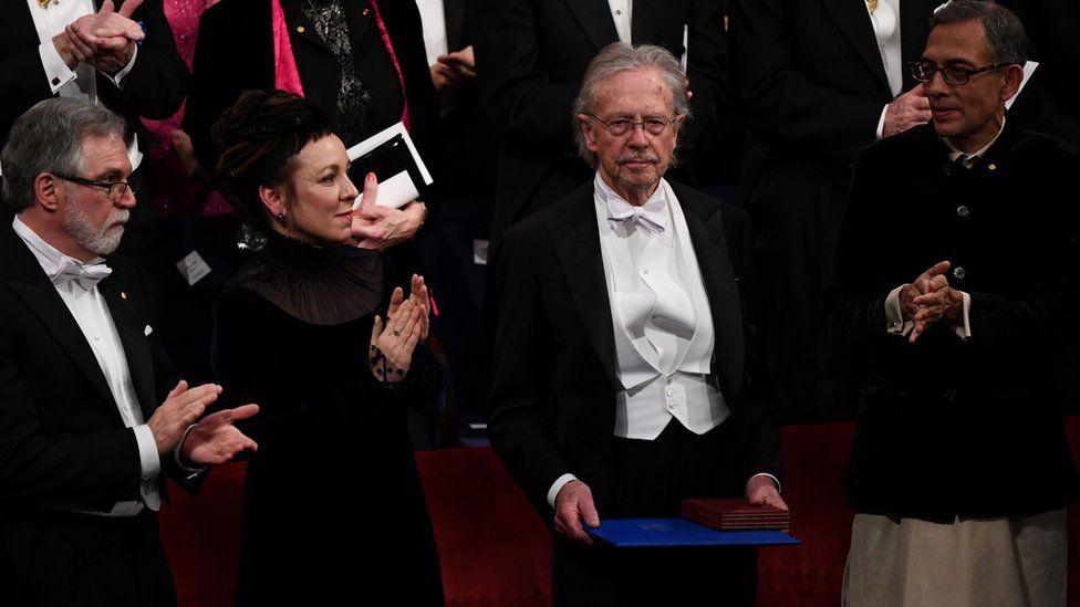 Peter Handke at the Nobel Prize ceremony
