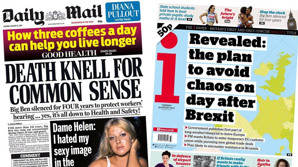 The Daily Mail and the i