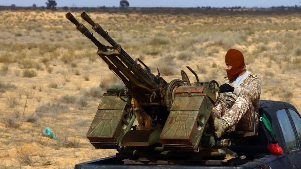 A member of the Libya Dawn militia group, January 2015