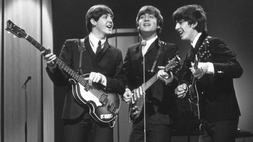 The Beatles - minus Ringo Starr - in 1964